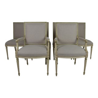 1950s Louis XVI Style Dining Chairs - Set of 6 For Sale