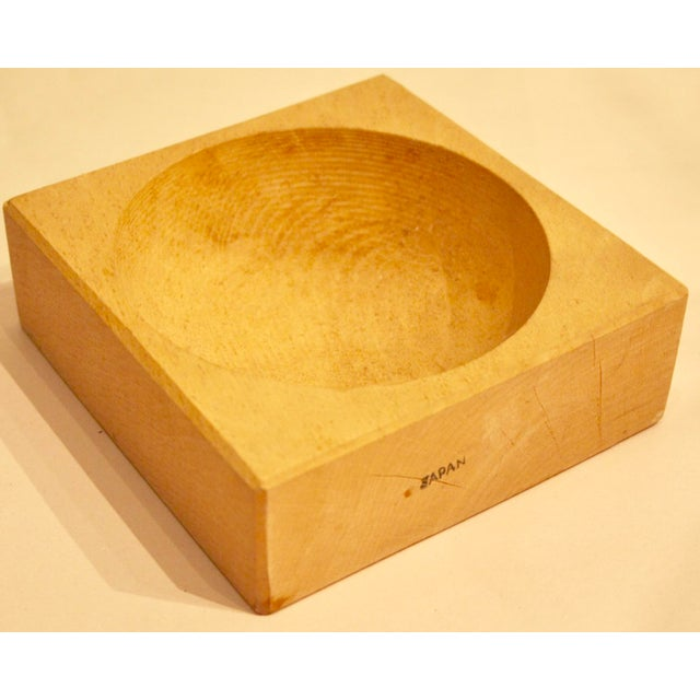 Japanese Sculptural Minimalist Wood Bowl - Image 2 of 6