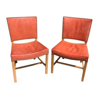 "Kaare Klint ""Barcelona"" Chairs- a Pair For Sale"