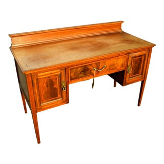 Victorian Inlaid Console Desk For Sale