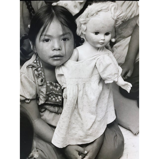 """""""Cultural Confusion -A Navajo Schoolgirl With Her White Doll"""" Vintage photograph showing a Navajo father and son. This..."""