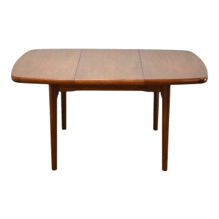 Danish Teak Butterfly Leaf Dining Table For Sale
