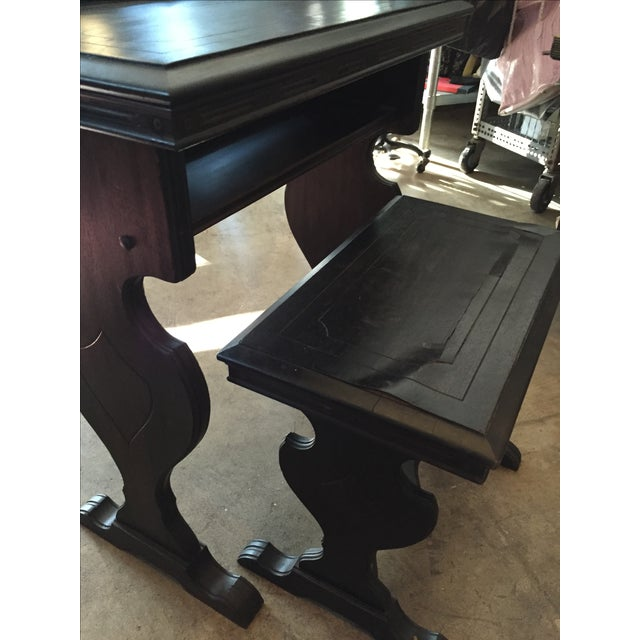 Vintage Writing Desk and Nesting Bench - Image 8 of 11