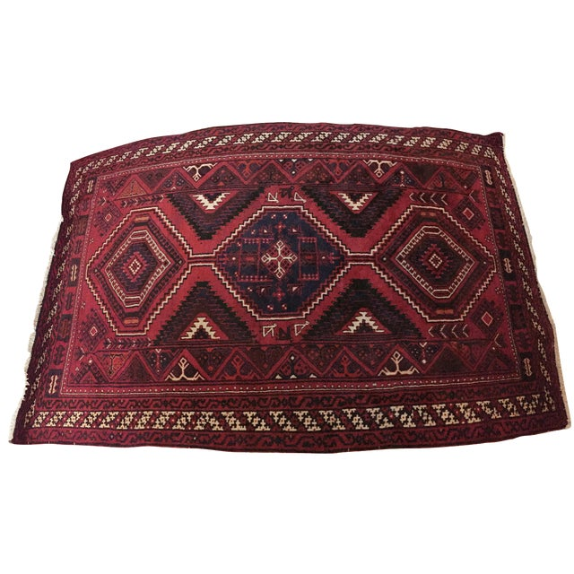 Handmade Persian Luri Rug - 7″ × 11″ - Image 1 of 11