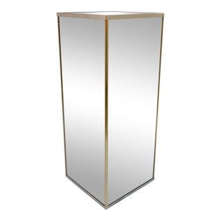 Tall Vintage Mirrored Pedestal