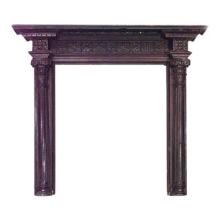 English Georgian Oak Carved Mantel For Sale