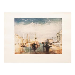 """1950s """"Grand Canal of Venice"""" Lithograph by J. W. Turner For Sale"""