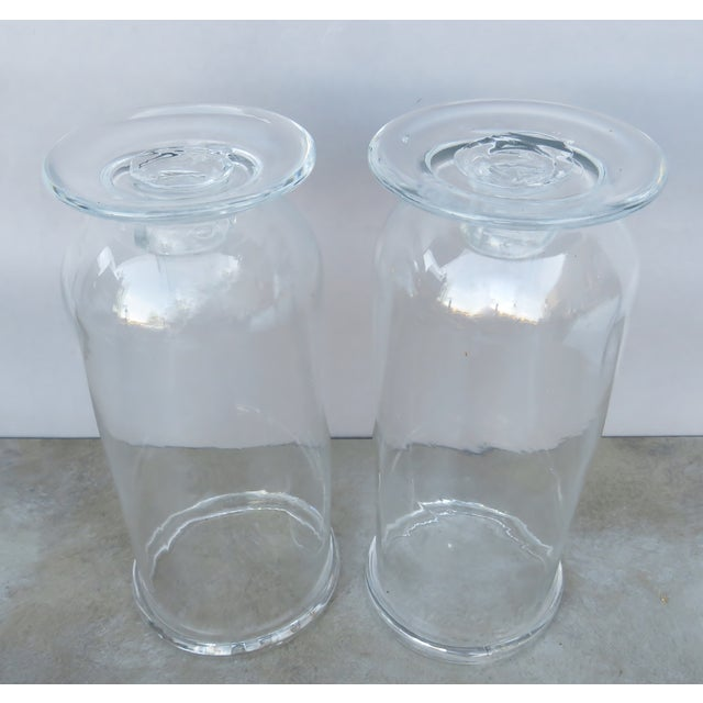 Vintage Tall Hurricane Candle Holders - a Pair For Sale - Image 4 of 6