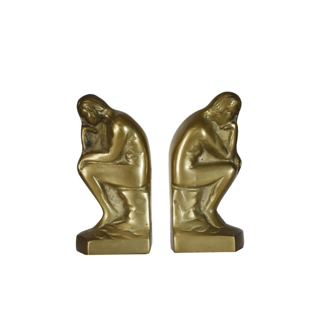 """Made of Brass Made in Korea A pair (2 Pieces) In great vintage Condition Dimensions (approximately): 5.75"""" H x 2.75"""" L x..."""