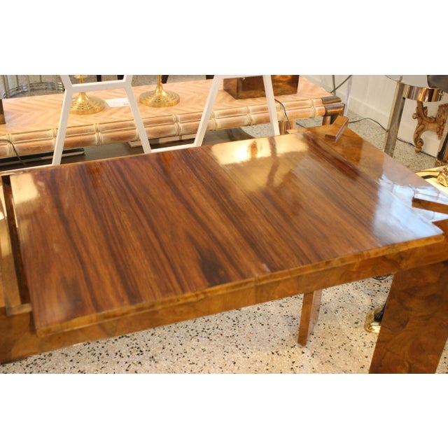 Brown Olive Wood Games Table Backgammon Removable Tray Top Italy 1970s For Sale - Image 8 of 13