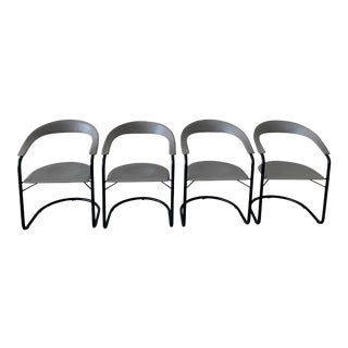 Postmodern Italian Leather Chairs- Set of 4 For Sale