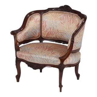 19th Century Art Nouveau French Bergere Chair