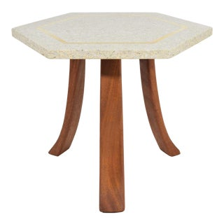 Harvey Probber Hexagonal Terrazzo Side Table For Sale