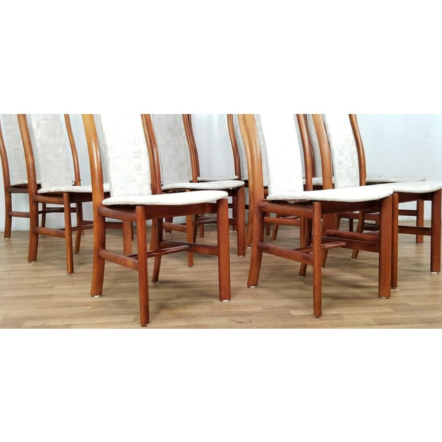 Mid-Century Danish Dining Chairs- Set of 12 For Sale In Los Angeles - Image 6 of 12