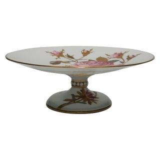 European Porcelain Tazza, Dessert, or Cake Plate For Sale
