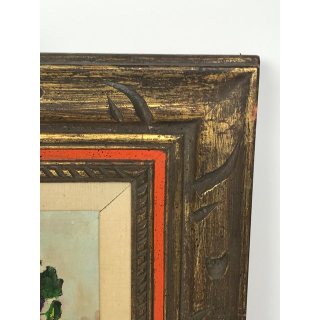 1970s Vintage Flower Still Life Oil on Canvas Painting For Sale In Los Angeles - Image 6 of 11