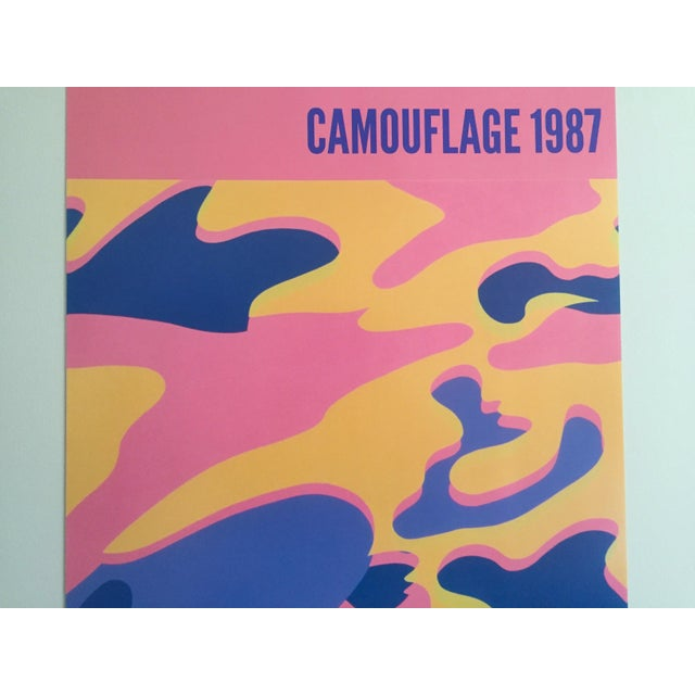 """Andy Warhol Andy Warhol Original Lithograph Pop Art Poster """"Pink Camouflage"""" 1987 For Sale - Image 4 of 10"""