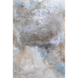 """Majestic (#6 in Series)"" Original Abstrast Landscape Textured Cool Tones Painting For Sale"