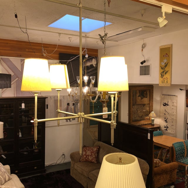 """Metal Thomas O'Brien for Visual Comort """"Bryant"""" Chandelier For Sale - Image 7 of 9"""
