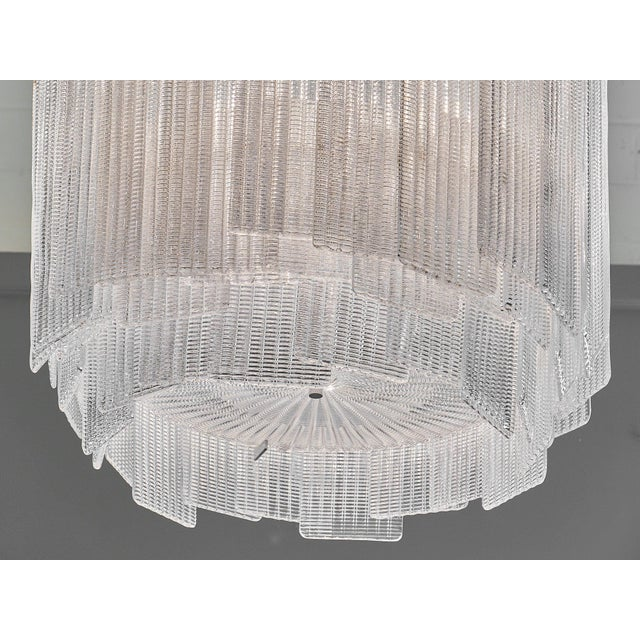 "Glass Murano Glass ""a Piastre"" Chandelier by a Dona For Sale - Image 7 of 10"