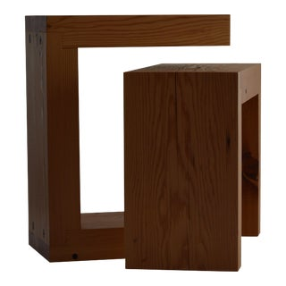 Contemporary Minimalist Wood Seat or Side Table by Scott Gordon For Sale