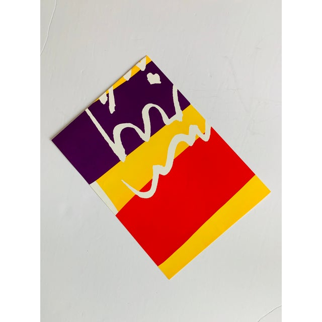 """Red 1960s Vintage Sister Mary Corita Kent """"Damn Everything but the Circus"""" Banner Print For Sale - Image 8 of 10"""