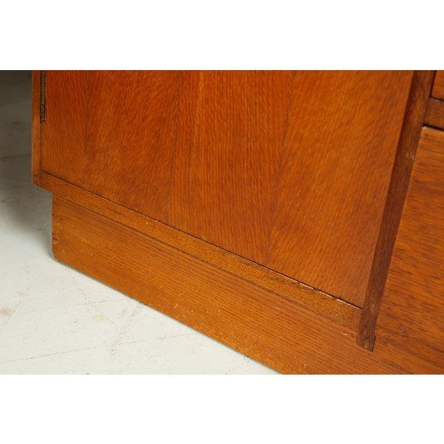 Midcentury English Oak Sideboard For Sale - Image 12 of 13
