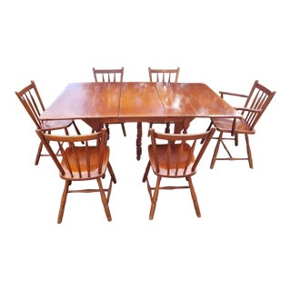 20th Century Country Cushman Colonial Dining Set - 7 Pieces For Sale