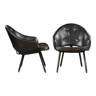 Jacques Adnet (1900-1984), Pair of Armchairs, Circa 1960 For Sale