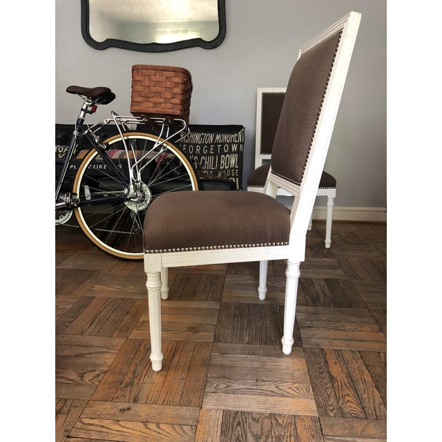 Wood Jonathan Adler Dining Chairs - a Pair For Sale - Image 7 of 11