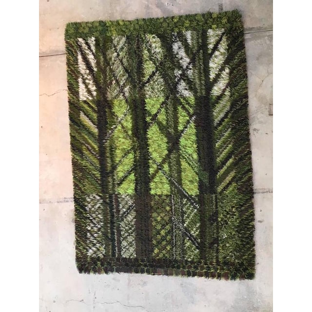 Mid-Century Modern Vintage Marianne Richter Rya Forest of Wool Rug - 5′7″ × 7′7″ For Sale - Image 3 of 8