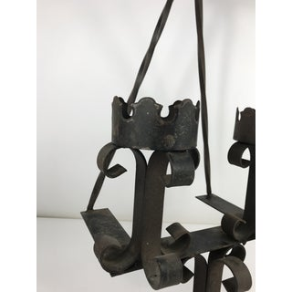 1970s Gothic Spanish Style Wrought Iron Candle Sconce Preview