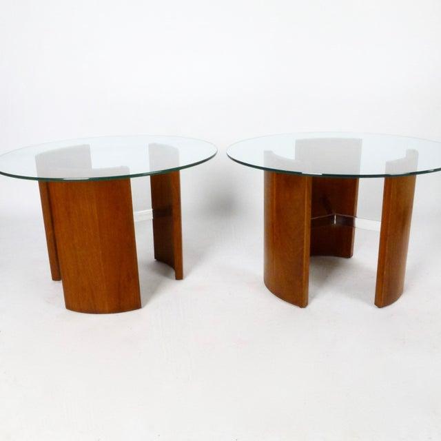 "1960s Vladimir Kagan ""Radius"" Tables - a Pair For Sale - Image 5 of 5"