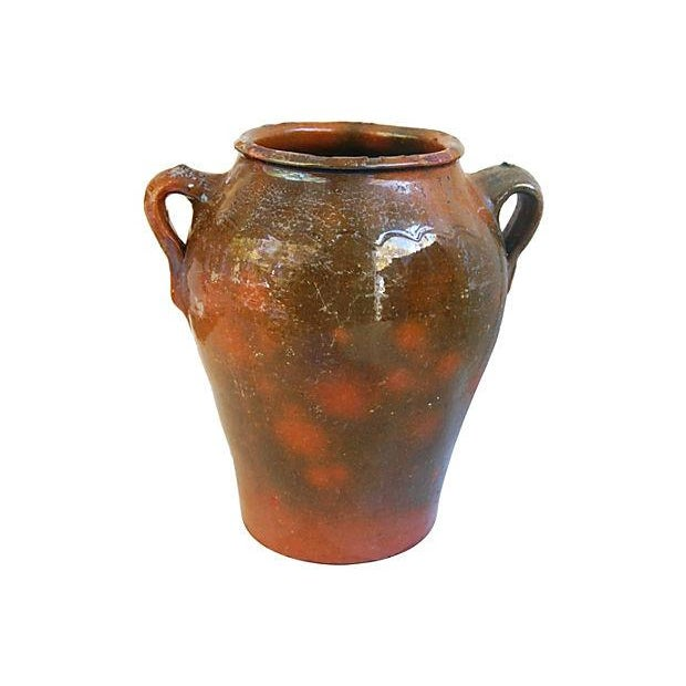 Large French Antique Brown Glazed Confit Pot - Image 3 of 6