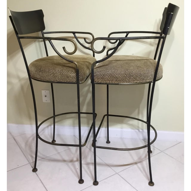 Wrought Iron Bar Stools - A Pair - Image 8 of 11