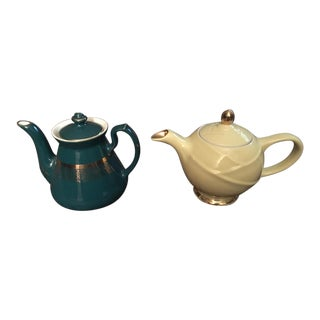Mid-Century Ceramic Hall Teapots - A Pair For Sale