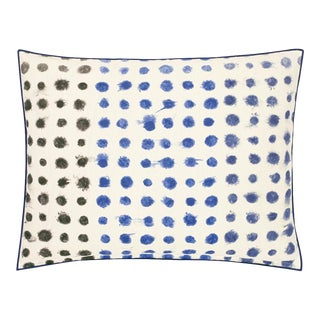 Kenneth Ludwig Chicago Amlapura Cobalt Outdoor Pillow For Sale