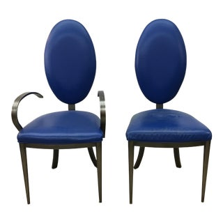 4 Design Institute of America Leather Dining Room Chairs