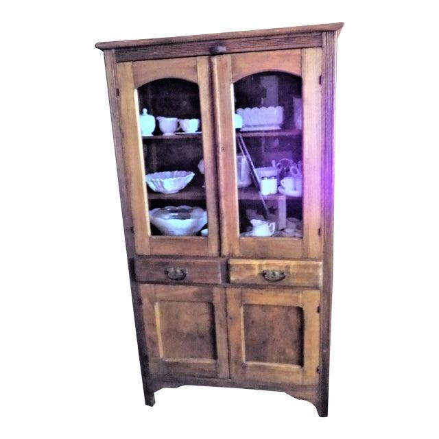 Antique Primitive Glass Door Pie Safe China Cabinet Cupboard - Antique Primitive Glass Door Pie Safe China Cabinet Cupboard Chairish