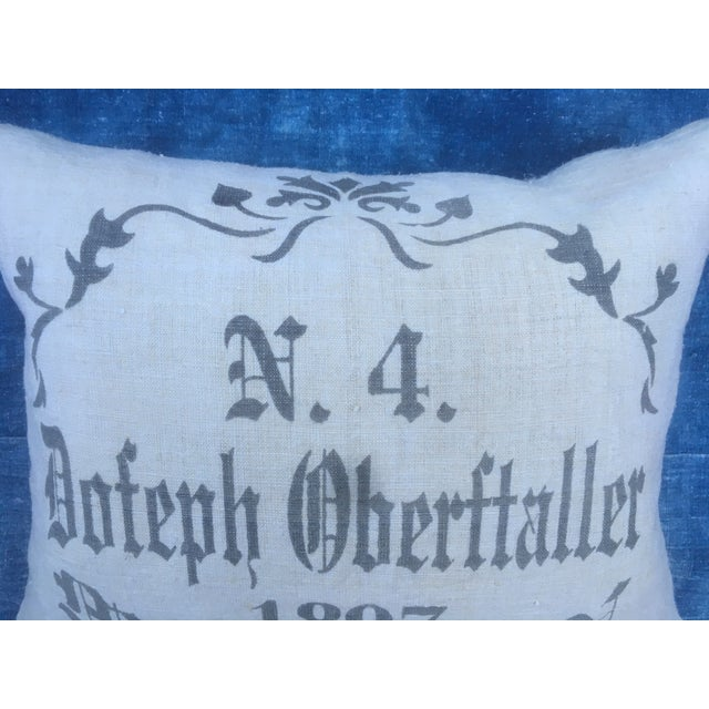English Traditional European Grain Sack Pillow For Sale - Image 3 of 6