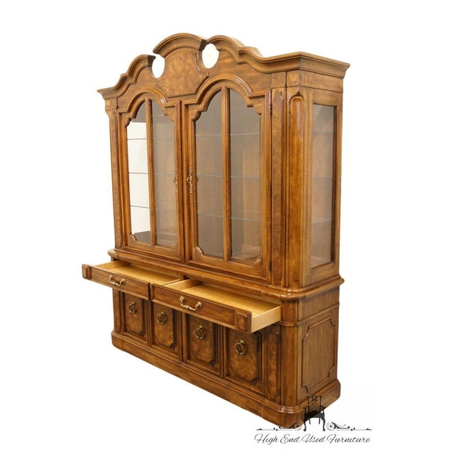 """Thomasville Furniture Contessina Collection 72"""" Lighted China Cabinet For Sale In Kansas City - Image 6 of 13"""