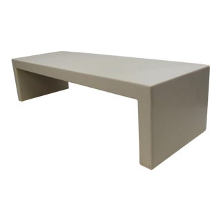 Mid Century Modern Bespoke Off- White Coffee Table / Bench For Sale