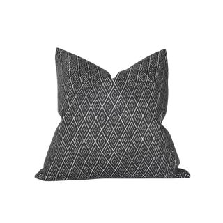Boho Chic Peter Dunham Atlas Charcoal Pillow Cover For Sale