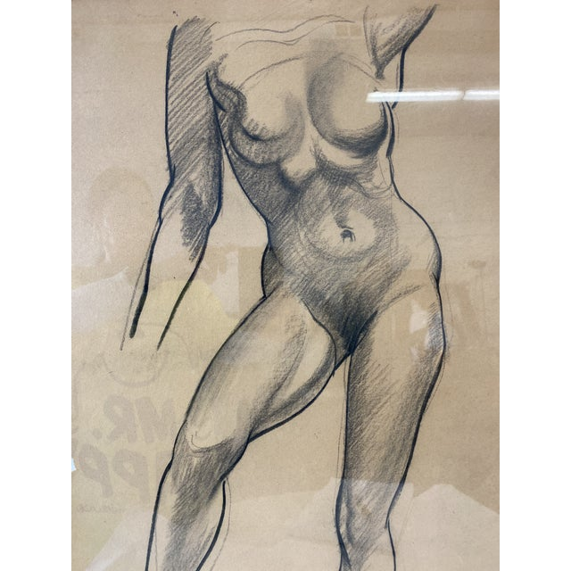 Female Nude Figurative Drawing For Sale - Image 4 of 7