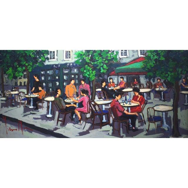 Yvonne Mora, Paris Café Painting, 2013 For Sale
