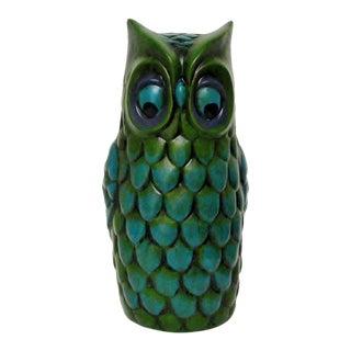 Vintage Ceramic Owl Figure For Sale