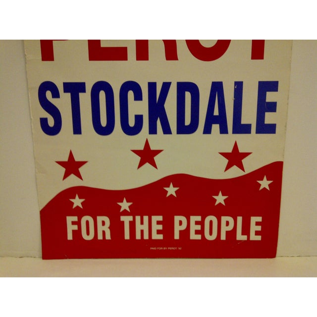 Vintage Perot/Stockdale 1992 Presidential Campaign Poster For Sale - Image 4 of 5
