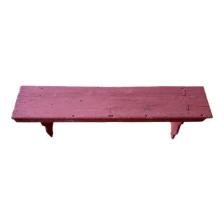 American Red Painted Barn Bench For Sale