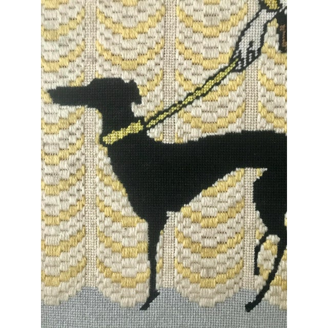 Boho Chic Vintage Wall Art Needlepoint Erte's Symphony in Black or Gloria Swanson? For Sale - Image 3 of 7