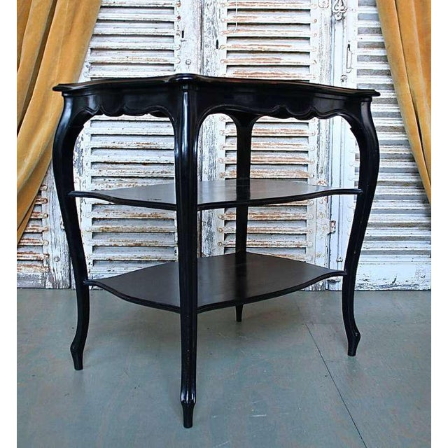 French Napoleon III End Table with Black Glass - Image 5 of 9